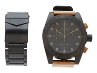 Electric Eyewear Dw01 Swiss Combo Ss Pu All Black Copper Watches Gray