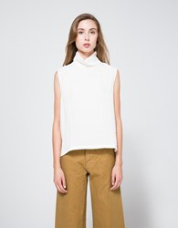 Objects Without Meaning Sleeveless Turtleneck Top White