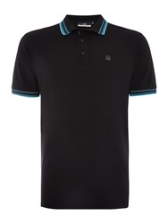 Duck And Cover Vertex Polo Shirt Black