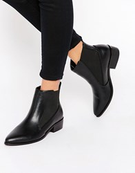 London Rebel Point Chelsea Boots Black Pu