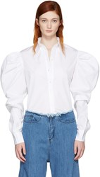 Marques Almeida White Puff Sleeve Shirt