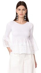 M.Patmos Stella Swing Top White Lace