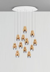 Axo Light Fedora 12 Cluster Pendant Brown