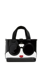 Alice Olivia Ashley Mini Stacey Face Crossbody Tote Clear