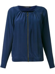 Roberto Collina Blouse Zipped Jacket Blue
