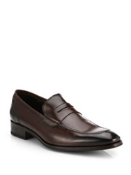 To Boot Moore Leather Penny Loafers Marrone Black
