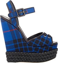 Giuseppe Zanotti Braided Platform Wedge Sandals Colorless