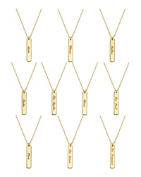 Coordinates Collection 22K Gold Plated Fjord Pendant Necklace