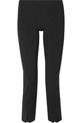 The Row Thilde Stretch Cady Straight Leg Pants Black
