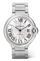 Cartier Ballon Bleu De 36.6Mm Stainless Steel Watch Silver