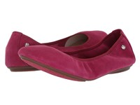 Hush Puppies Chaste Ballet Sangria Suede Flat Shoes Burgundy