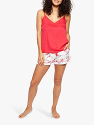 Cyberjammies Evie Hummingbird Camisole And Shorts Pyjama Set White Red