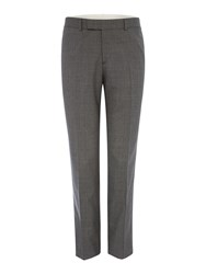 Simon Carter Melange Plain Suit Trousers Grey