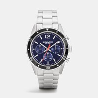 Coach Sullivan Sport Stainless Steel Chrono Bracelet Watch Navy