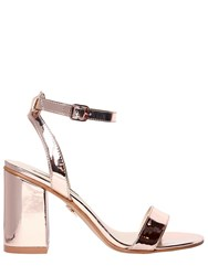 Windsor Smith 90Mm Barlo Metallic Faux Leather Sandals Rosegold