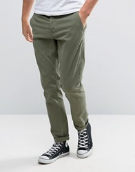 Only And Sons Slim Fit Chinos In Khaki Kalamata Green