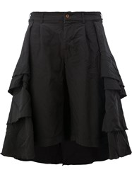 Comme Des Garcons Pleated Tiered Full Skirt Women Polyester L Black