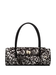 Manu Atelier London Dalmatian Print Bag Black