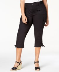 Lee Platinum Plus Size Cropped Cargo Pants Black