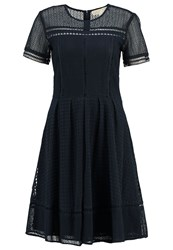 Michael Michael Kors Eyelet Summer Dress New Navy Dark Blue