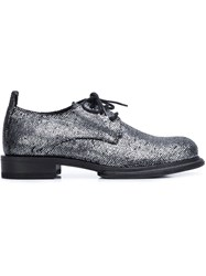 Ann Demeulemeester Scale Effect Lace Up Shoes Metallic