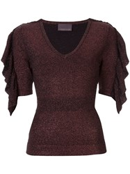 Ginger And Smart Revel Glitter Knit Top Black