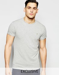 Farah T Shirt With F Logo Muscle Fit Exclusive Blue