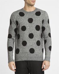 Eleven Paris Mottled Grey Enoa Dots Sweater