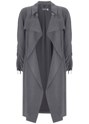 Mint Velvet Mercury Open Trench Jacket Dark Grey
