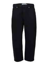 Topman Ltd Black Wide Leg Cropped Jeans