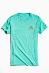 Urban Outfitters Embroidered Pusheen The Cat Tee Sky