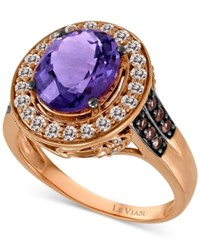 Le Vian Gemstone Amethyst 1 9 10 Ct. T.W. White Sapphire 2 5 Ct. T.W. And Smoky Quartz 1 8 Ct. T.W. Ring In 14K Rose Gold
