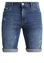New Look Denim Shorts Bright Blue Blue Denim