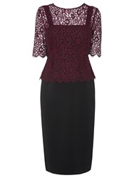 Lk Bennett L.K. Bennett Isolde Peplum Dress Black Cherry