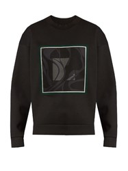 Wooyoungmi Abstract Square Print Neoprene Sweatshirt Black Multi