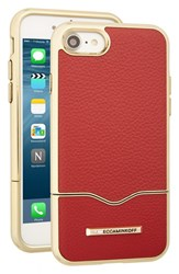 Rebecca Minkoff Leather Iphone 7 Slider Case Red Deep Red Leather