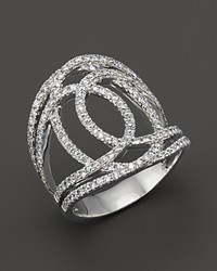 Bloomingdale's Diamond Interlocking Geometric Ring In 14K White Gold 1 Ct. T.W.