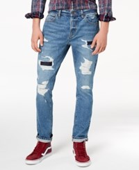 American Rag Men's Blue Skies Ripped Jeans Created For Macy's Blue Skies Wash