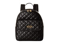 Love Moschino Quilted Backpack Black Backpack Bags