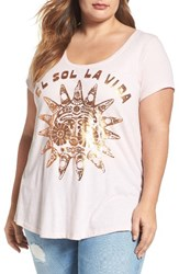 Lucky Brand Plus Size Women's El Sol Foil Graphic Tee