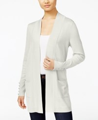 Jm Collection Open Front Cardigan Only At Macy's Eggshell