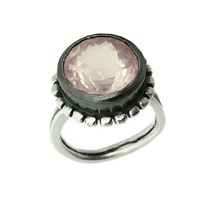 Peculiar Vintage Jewellery Pallenberg Rose Quartz Healing Gemstone Ring Pink Purple