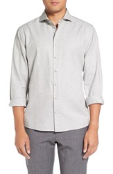 Singer Sargent Men's And Slub Twill Sport Shirt Light Grey