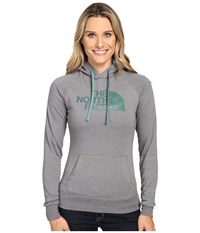 The North Face Half Dome Hoodie Tnf Medium Grey Heather Deep Sea Women's Sweatshirt Gray