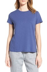 Eileen Fisher Women's Organic Cotton Tee Blue Angel