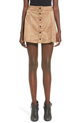 Glamorous Faux Suede Skirt Tan
