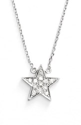 Dana Rebecca Women's Designs 'Julianne Himiko' Diamond Star Pendant Necklace White Gold
