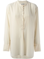 Barena Long Band Collar Shirt Nude And Neutrals