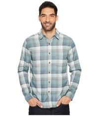 Royal Robbins Vintage Performance Flannel Plaid Long Sleeve Shirt Slate Men's Long Sleeve Button Up Metallic