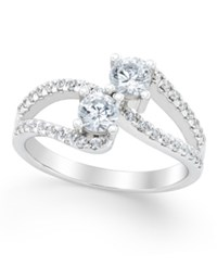 Macy's Diamond Two Stone Engagement Ring 1 2 Ct. T.W. In 14K White Gold